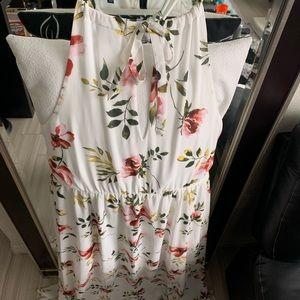 Torrid Dresses - Floral maxi halter dress with high slits